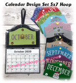 In The Hoop Calendar 5x7 Machine Embroidery Design Set