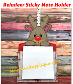 InThe Hoop Reindeer Sticky Note Holder Embroidery Machine Design 5x7