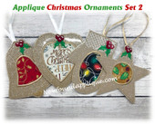 In The Hoop Applique Ornament Embroidery Machine Design Set 2