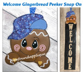 THIS IS THE LISTING FOR THE GINGERBREAD SNAP ON ONLY.   THE WELCOME SIGN WITH SNOWMAN STARTER SET IS SOLD IN A SEPARATE LISTING.