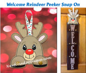 THIS IS THE LISTING FOR THE REINDEER SNAP ON DESIGN ONLY.  WELCOME SIGN WITH SNOWMAN SNAP ON STARTER SET IS AVAILABLE IN A SEPARATE LISTING.