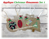 In The Hoop Applique Ornament Embroidery Machine Design Set 1