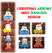 In The Hoop Christmas Arrows Wall Hanging Embroidery Machine Design