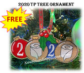 In The Hoop 2020 TP Ornament with Holly  Embroidery Machine Design