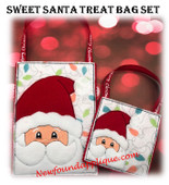 In The Hoop Sweet Santa Treat Bag Embroidery Machine Design Set