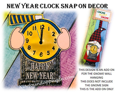 THIS IS THE LISTING FOR THE NEW YEARS EVE CLOCK SNAP ON DESIGN ONLY. THE GNOME WITH HEART SNAP ON DESIGN IS SOLD AS A STARTER SET IN A SEPARATE LISTING.