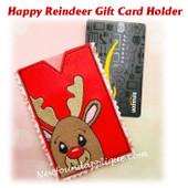 In The Hoop Happy Reindeer Gift Card Holder Embroidery Machine design