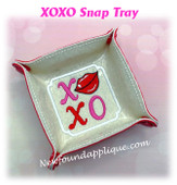 In The Hoop XOXO Snap Tray Embroidery Machine Design Set