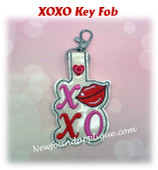 In The Hoop XOXO Key Fob Embroidery Machine Design