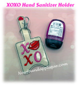 In The Hoop XOXO Hand Sanitizer Holder Embroidery Machine design