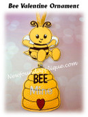 In The Hoop Bee Valentine Ornament Embroidery machine Design