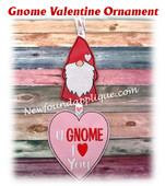 In The Hoop Gnome Valentine Ornament Embroidery Machine Design