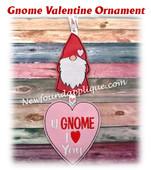 In The Hoop Gnome Valentine Ornament Embroidery Machine Design