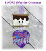 In The Hoop Smore Valentine Ornament Embroidery Machine Design