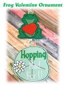 In The Hoop Frog Valentine Ornament Embroidery Machine Design