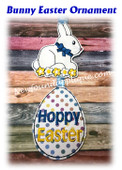 In The Hoop Bunny Easter Ornament Embroidery Machine Design