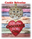 In  The Hoop Cookie Valentine Ornament Embroidery Machine Design