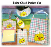 In The Hoop Baby Chick Embroidery Machine Design Set