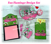 In The Hoop Flamingo Embroidery Machine Design Set