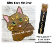 In The Hoop Kitty Snap On Deco Add On Embroidery Machine Designs