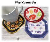 In the Hoop Vinyl Coaster Embroidery Machine Design Set