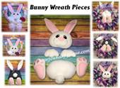 In The Hoop Bunny Wreath Head N Ears Embroidery Machine Design Set