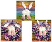 In The Hoop Bunny Bum Wreath Embroidery Machine Design Set
