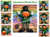 In The Hoop Leprechaun Wreath Pieces Embroidery Machine Design Set