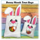 In The Hoop Bunny Mouth Treat Bag Embroidery  Machine Design