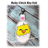 In The Hoop Baby Chick Key Fob Embroidery Machine Design