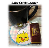 In The Hoop Baby Chick Coaster Embroidery Machine Design