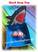 In The Hoop Shark Snap Tray Embroidery Machine Design Set
