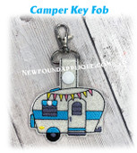 In The Hoop Camper Key Fob embroidery Machine Design