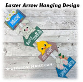 In The Hoop Easter Arrows Wall Hanging Embroidery Machine Design