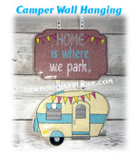 In The Hoop Camper Wall Hanging Embroidery Machine Design