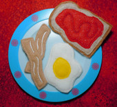 Breakfast felt food set