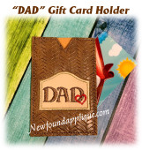 In The Hoop DAD with Heart Gift Card Holder Embroidery Machine Design