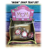 In The Hoop MOM with Heart Snap Tray Embroidery Machine design set