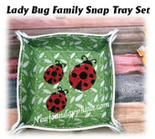 In The Hoop Lady Bug Family Snap Tray Embroidery Machine Design Set