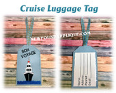 In The Hoop Cruise Luggage Tag Embroidery Machine Design
