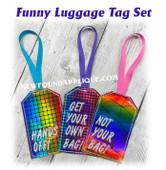 NFA Funny Luggage Tag Embroidery Machine Design Set