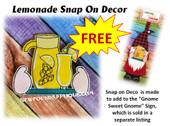 In The  Hoop Lemonade Snap On Deco Embroidery Machine Design