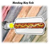 In The Hoop Hotdog Key Fob Embroidery Machine Design
