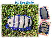 In The Hoop Pill Bug Stuffy Embroidery Machine Design