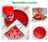 In The Hoop Watermelon Coaster Embroidery Machine Design