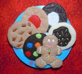Felt food Cookie Set