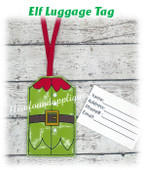 In The Hoop Elf Belly Luggage Tag Embroidery Machine Design