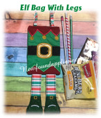 In The Hoop Elf With Legs Treat Bag Embroidery Machine Design