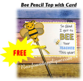 In the Hoop Bee Pencil Top w Card Embroidery Machine Design