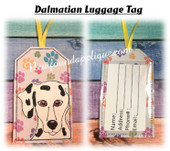 In The Hoop Dalmatian Luggage Tag Embroidery Machine Design